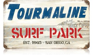 Tourmaline Surf Vintage Metal Sign