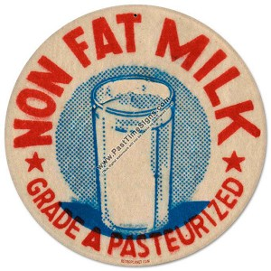 Nonfat Milk Vintage Metal Sign