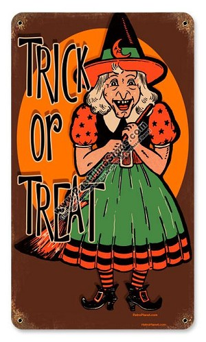 Halloween Witch Vintage Metal Sign