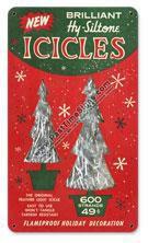 Christmas Tree Icicles Vintage Metal Sign