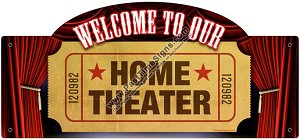 Home Theater Vintage Metal Sign