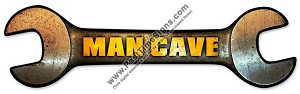 Man Cave Wrench Metal Sign