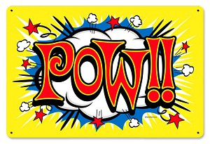 Pow Vintage Metal Sign