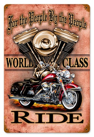 World Class Motorcycle Vintage Metal Sign