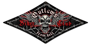 Outlaws Biker Club Vintage Metal Sign