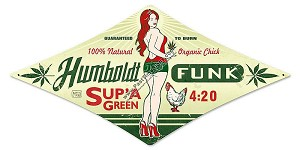 Humboldt Funk Metal Sign