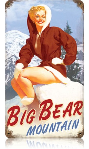 Big Bear Vintage Metal Sign