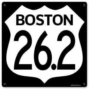 Boston Marathon Vintage Metal Sign