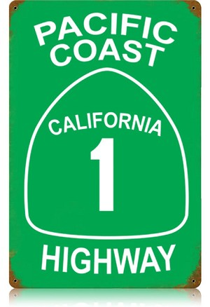 Highway 1 Vintage Metal Sign