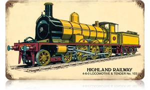 Highland Railway Vintage Metal Sign