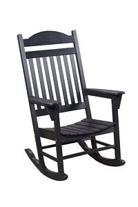 Traditional Rocker Polyresin Patio Chair