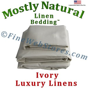 Round Ivory Bed Linen Sheet Set 300 Thread Count