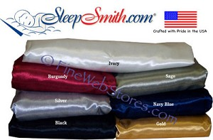 Adjustable Bed Size Satin Sheet Set Queen 60 in. x 80 in.