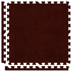 Burgundy Soft Carpet Floor Premium Tile Kit