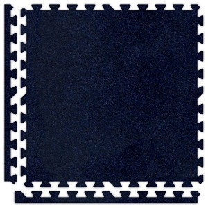 Navy Blue Soft Carpet Floor Premium Tile Kit