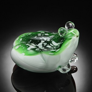 Frog Art Glass