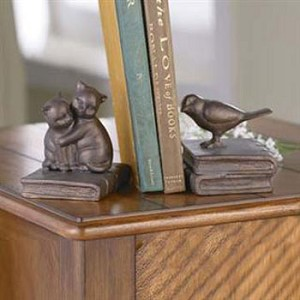 Kittens and Birds Bookends