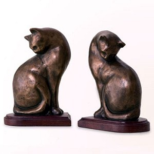 Nature's Whimsy Cat Bookends