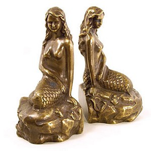 Nautical Mermaid Bookends