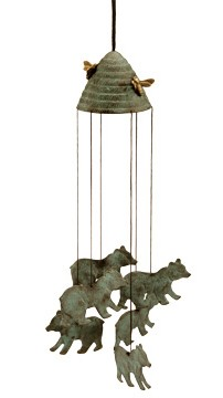 Bears And Beehive Wind Chime