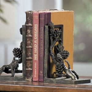 Pinecone Book Ends  - Set of Two
