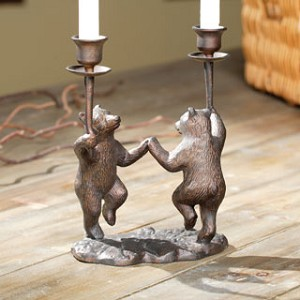 Dancing Bears Taper Candle Holder