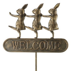 Parading Bunnies Welcome Sign