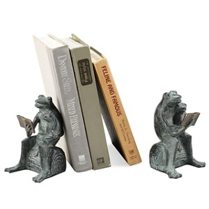 Story Time Frog Bookends