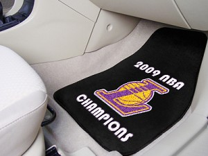 Los Angeles Lakers Champions Universal Carpet Car Floor Mat, Set Of 2