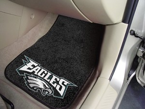 Philadelphia Eagles Universal Carpet Car Floor Mat, Set Of 2