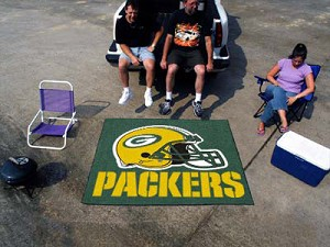 Large Green Bay Packers Logo Area Rug