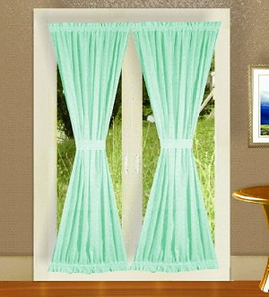 Mint Green French Door Curtains