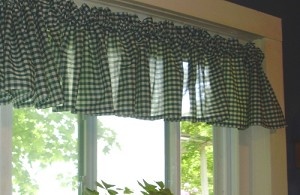 Hunter Green Gingham Window Valances