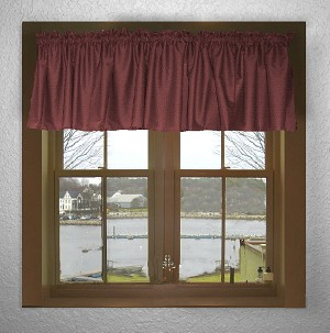 Dark Wine Window Valances