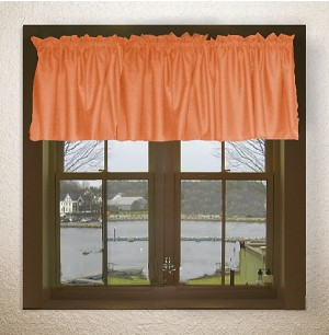 Orange Window Valances
