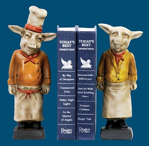 Chef Pig Bookends