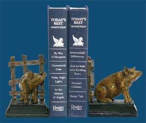 Pair Of Piggy Bookends