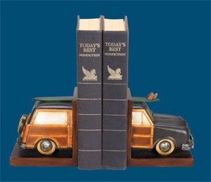 Surfer Station Wagon Bookends