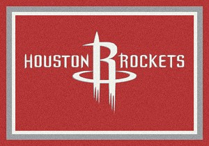 Houston Rockets Team Logo Area Rug