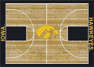Iowa Hawkeyes Home Court Area Rug