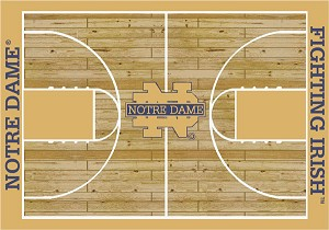 Notre Dame Fighting Irish Home Court Area Rug