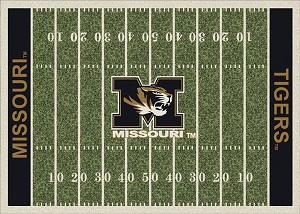 Missouri Tigers Home Field Area Rug
