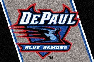 DePaul Blue Demons Team Logo Area Rug