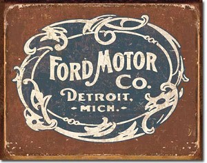 Historic Ford Motor Company Logo Tin Sign