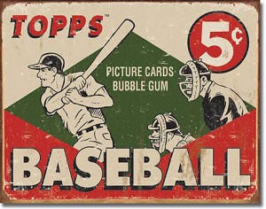 TOPPS 1955 Baseball Box Tin Sign