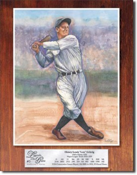 Lou Gehrig Legend Tin Sign