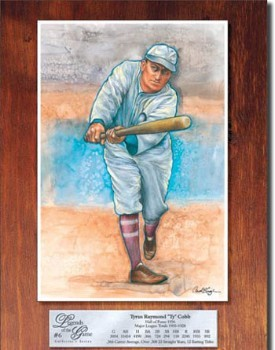Ty Cobb Legend Tin Sign