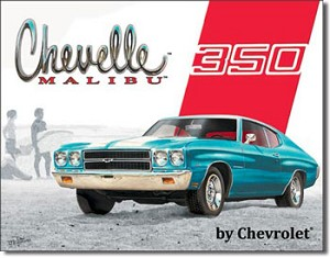 Chevy Chevelle Malibu Tin Sign