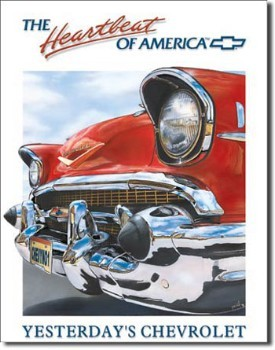 Chevy Heartbeat of America Tin Sign