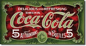 Coca Cola 1900's Tin Sign